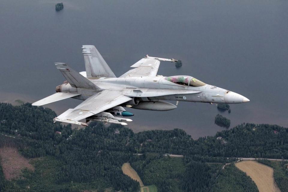 A F/A-18C of the Finish Air Force: (Photo: Finish Air Force)