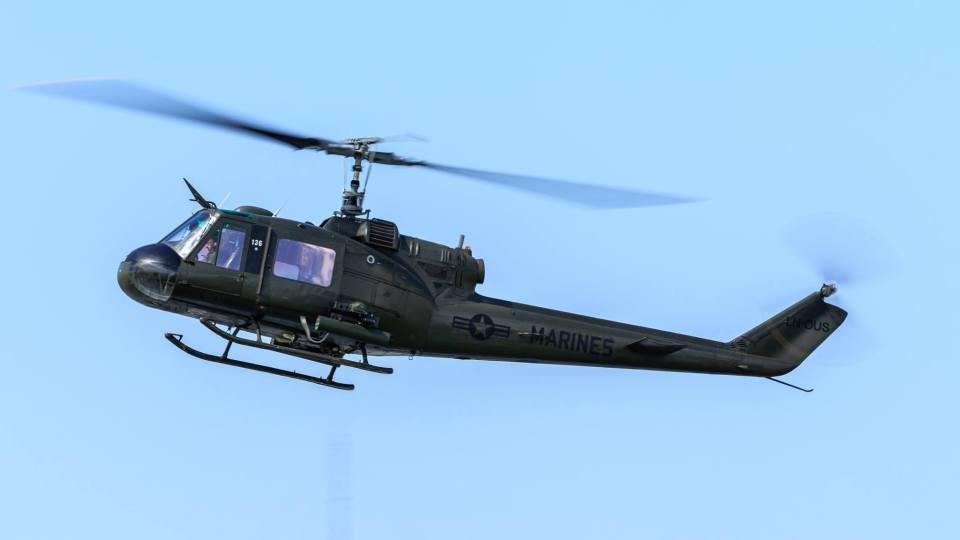 UH-1E Huey. Foto Eirik Østensjø.