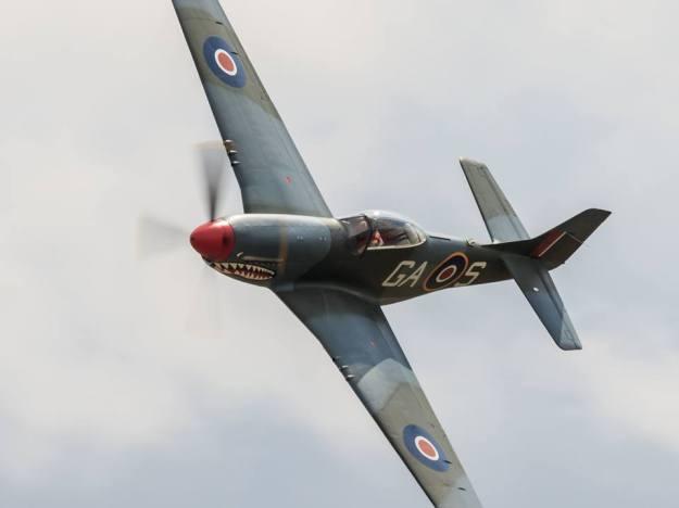 """P-51D Mustang """"the Shark"""". Foto: Eirik Østensjø"""